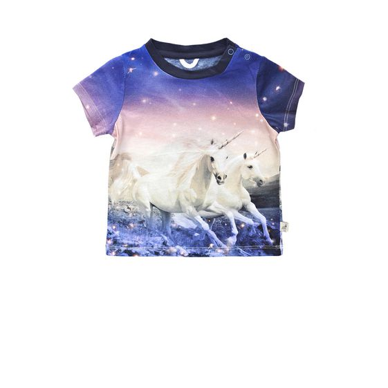 STELLA McCARTNEY KIDS, T-Shirts, CHUCKLE UNICORN T-SHIRT