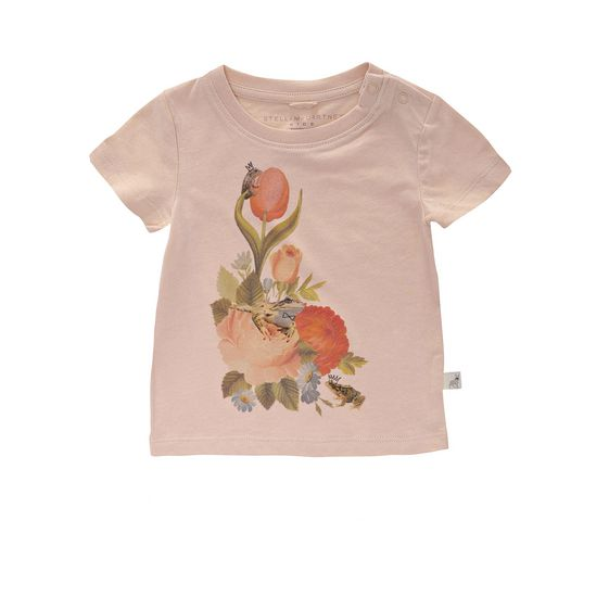 STELLA McCARTNEY KIDS, T-Shirts, CHUCKLE FLORAL T-SHIRT