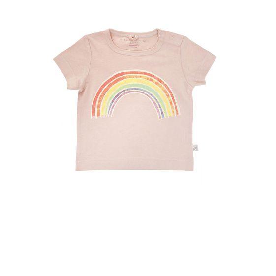 STELLA McCARTNEY KIDS, T-Shirts, CHUCKLE RAINBOW T-SHIRT