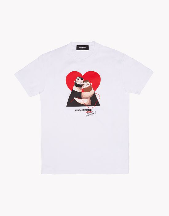 love t-shirt tops & tees Man Dsquared2