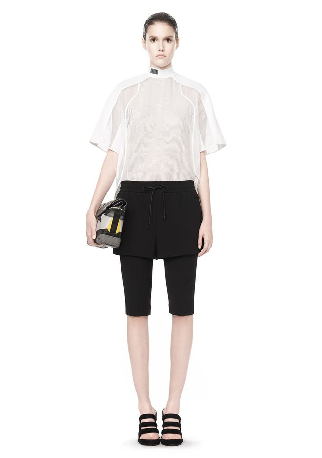 ALEXANDER WANG SHORT SLEEVE  PATCHWORK SHIRT