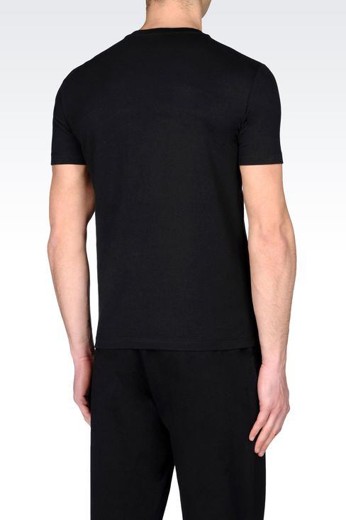 T-SHIRT IN STRETCH COTTON JERSEY: Short sleeved t-shirts Men by Armani - 3