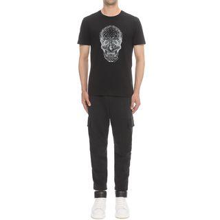 ALEXANDER MCQUEEN, Skull T-shirt, Studded Skull Print Classic T-Shirt
