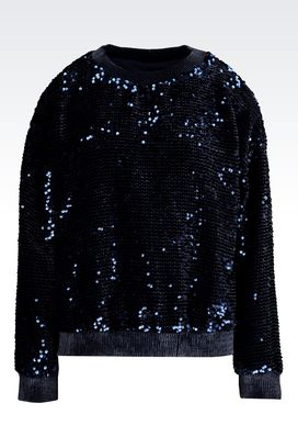 Armani Sweatshirts Women sweater embroidered with sequins