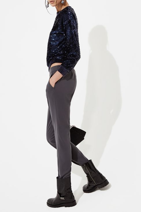SWEATER EMBROIDERED WITH SEQUINS: Sweatshirts Women by Armani - 2