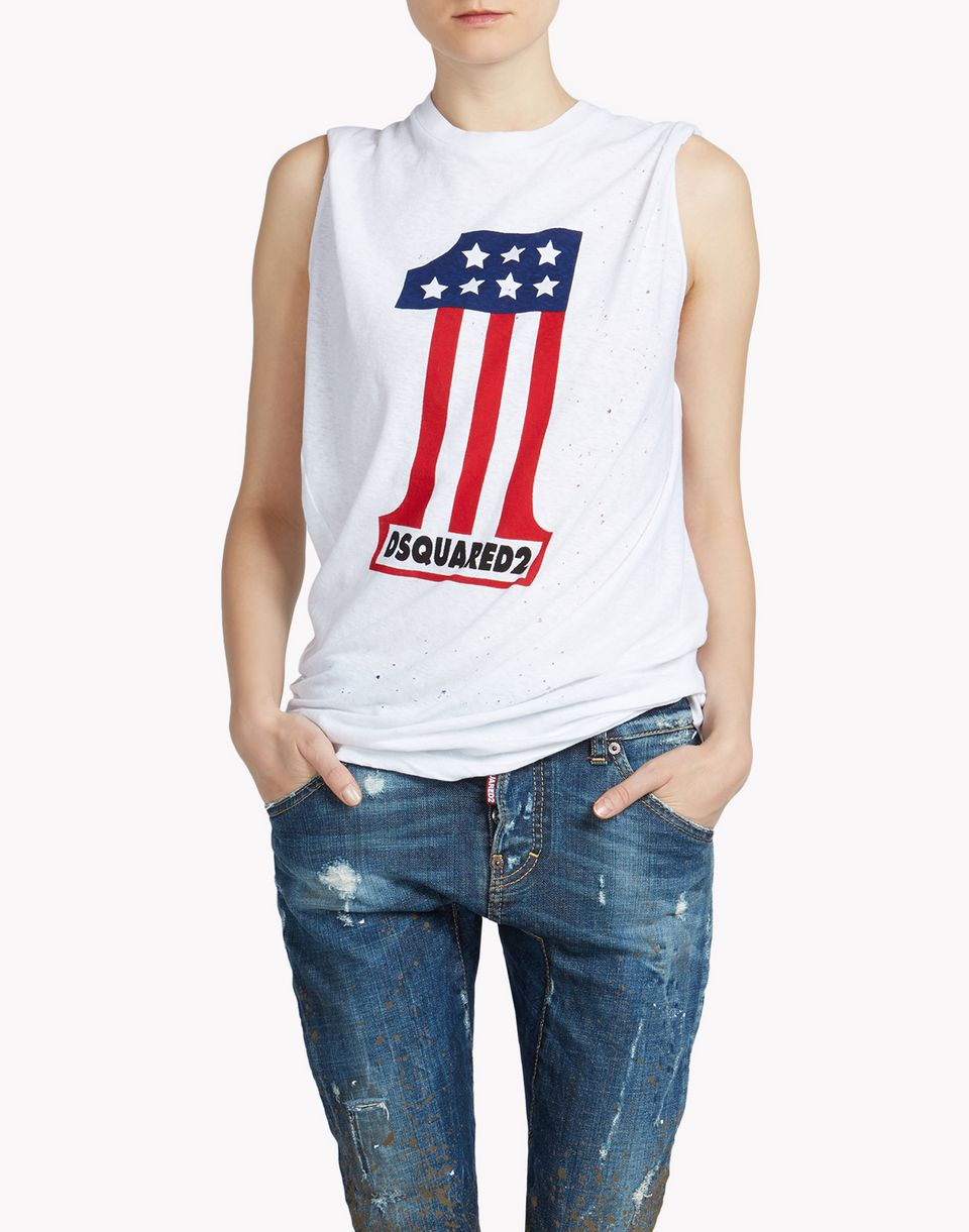 Dsquared2 Long Cool Twisted T Shirt - Sleeveless t Shirts for ...