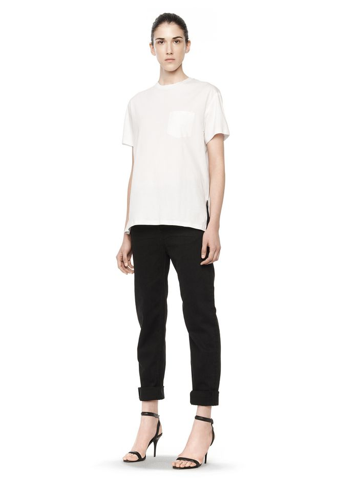 T by ALEXANDER WANG WELDED COTTON TEE TOP Adult 12_n_f