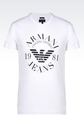 Armani Print t-shirts Men t-shirt in cotton jersey
