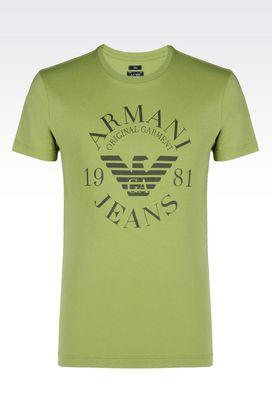 Armani Tshirt stampate Uomo t-shirt in jersey di cotone