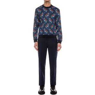 ALEXANDER MCQUEEN, Sweatshirt, Hibiscus Printed Sweatshirt