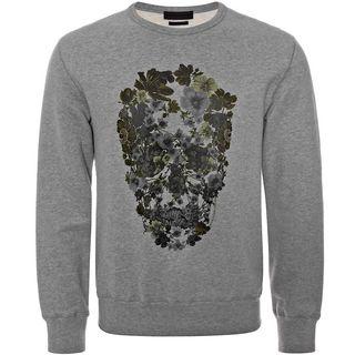 ALEXANDER MCQUEEN, Sweatshirt, Flower Skull Print Sweatshirt