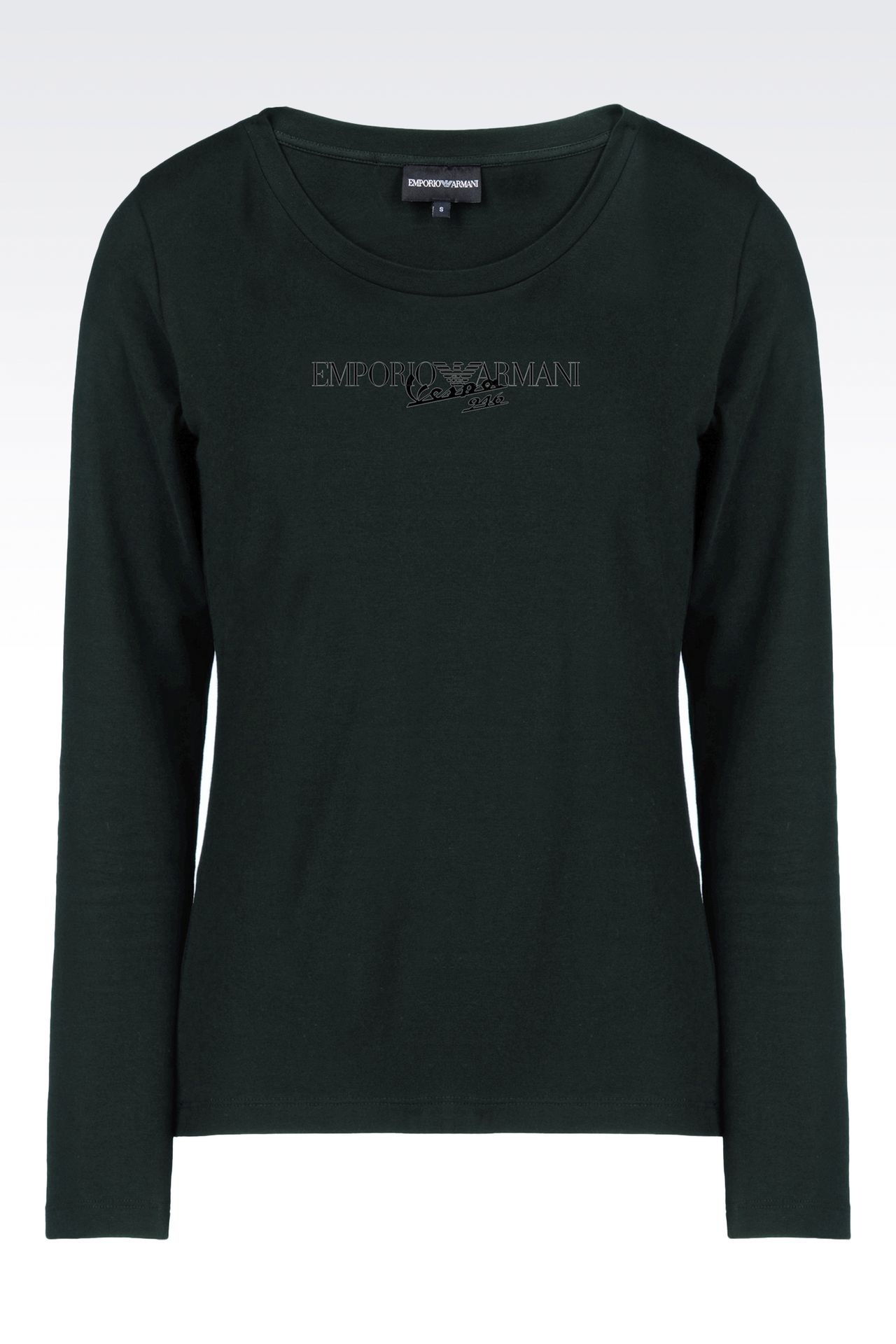 emporio armani vespa 946 t shirt long sleeve t shirts women by armani. Black Bedroom Furniture Sets. Home Design Ideas