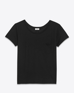 Classic Ballet Collar T-Shirt in Black Cotton Jersey