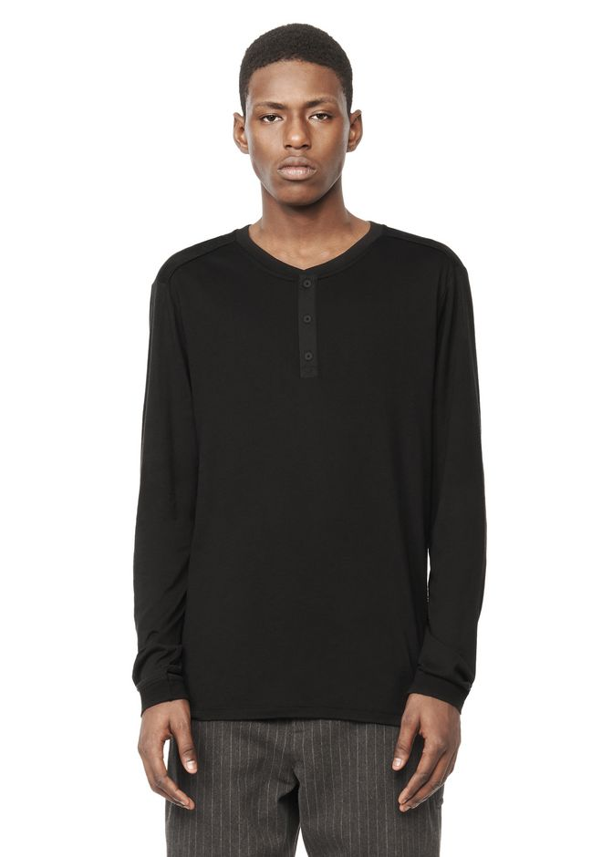 T by ALEXANDER WANG t-by-alexander-wang-sale LONG SLEEVE HENLEY TOP
