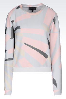 Armani Sweatshirts Women sweatshirt printed motif