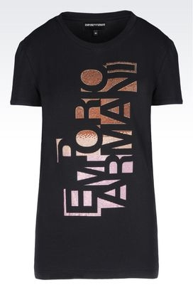 Armani Short-sleeve t-shirts Women t-shirt in stretch cotton