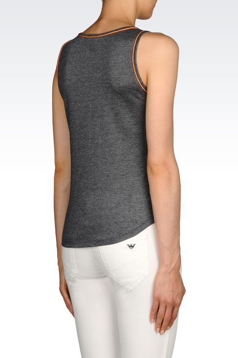 RUNWAY TOP IN COTTON MODAL: Tank top Women by Armani - 3