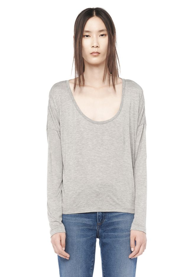 T by ALEXANDER WANG t-by-alexander-wang-classics CLASSIC LONG SLEEVE LOW NECK TEE