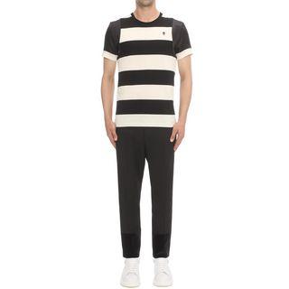 ALEXANDER MCQUEEN, T-shirt, T-shirt con inserti a contrasto