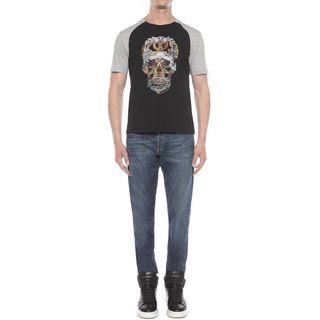 ALEXANDER MCQUEEN, T-shirt, T-shirt Skull con maniche raglan