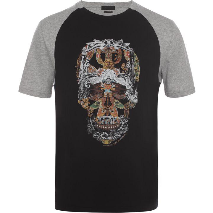 raglan skull t shirt alexander mcqueen t shirt t