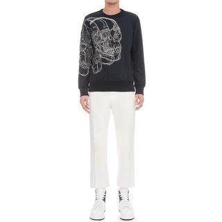 ALEXANDER MCQUEEN, Sweatshirt, 3D Embroidered Skull Sweatshirt