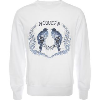ALEXANDER MCQUEEN, Sweatshirt, Embroidered Bird Sweatshirt
