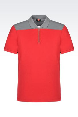 Armani Short-sleeved polo shirts Men polo shirt in cotton pique