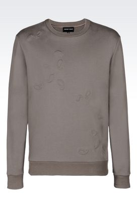 Armani Sweatshirts Men paisley print sweatshirt