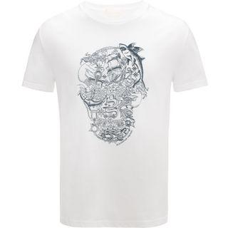 ALEXANDER MCQUEEN, T-shirt, T-Shirt Skull Ricamata