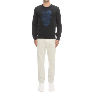 ALEXANDER MCQUEEN, Sweatshirt, Skull Embroidered T-Shirt