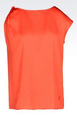 Armani One-shoulder tops Women satin top