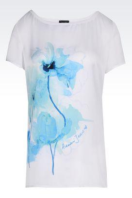 Armani Print t-shirts Women jersey t-shirt