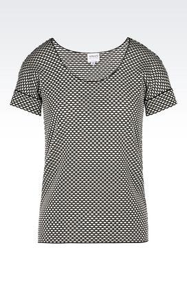 Armani Print t-shirts Women t-shirt in jacquard