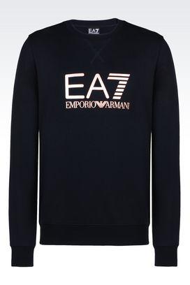 Armani Crewneck sweatshirts Men visibility line crew neck sweatshirt