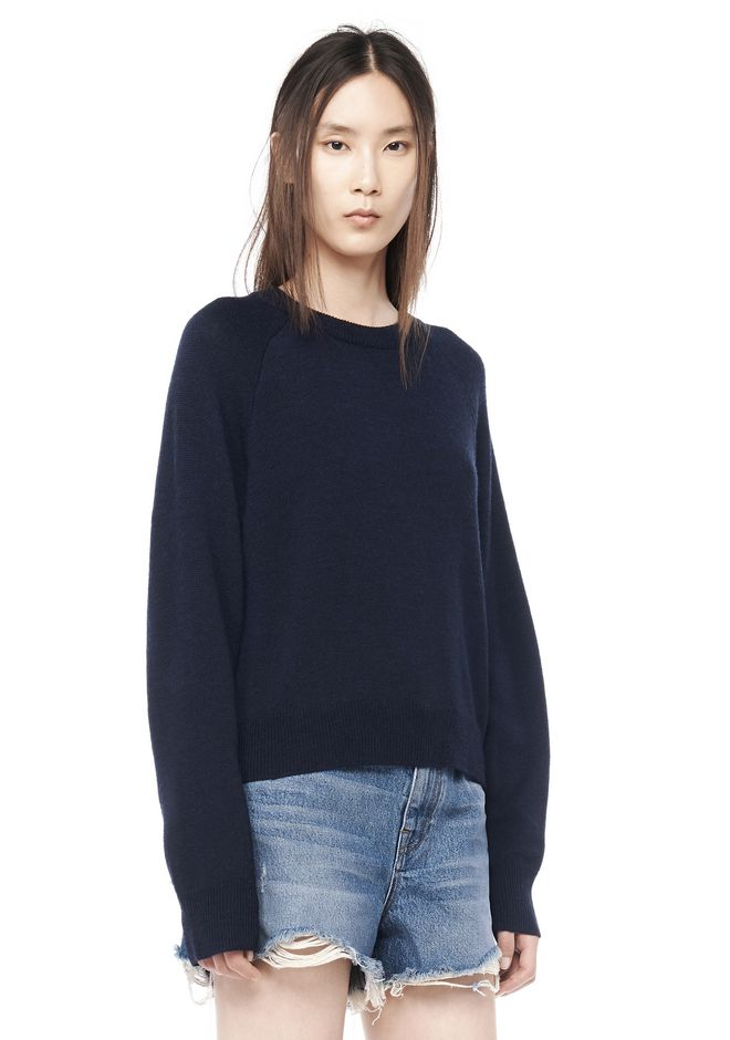 T by ALEXANDER WANG resort-2016 CASHWOOL CROPPED SWEATER