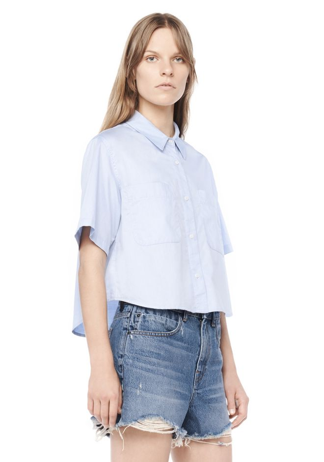 T by ALEXANDER WANG t-by-alexander-wang-sale CROPPED SHORT SLEEVE SHIRT