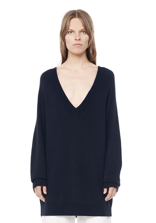 T by ALEXANDER WANG resort-2016 CASHWOOL  V-NECK SWEATER