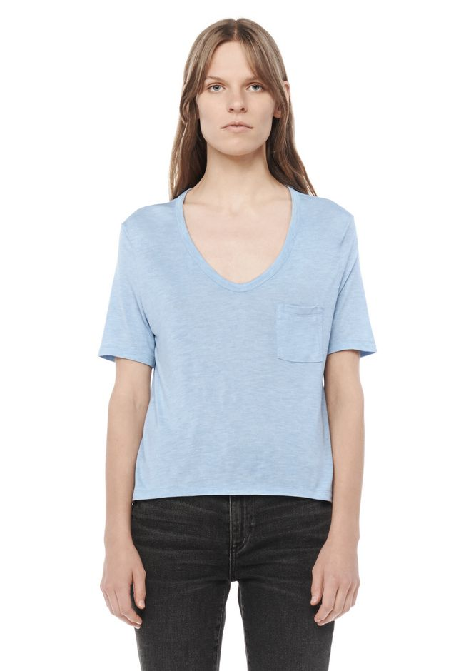 T by ALEXANDER WANG resort-2016 CLASSIC CROPPED TEE WITH POCKET