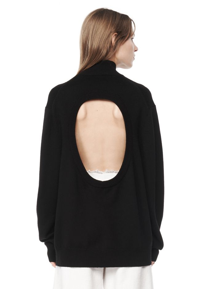 T by ALEXANDER WANG resort-2016 JERSEY CUT OUT TURTLENECK SWEATER
