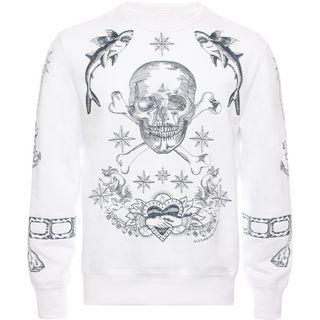 ALEXANDER MCQUEEN, Sweatshirt, Skull Embroirdered Sweatshirt