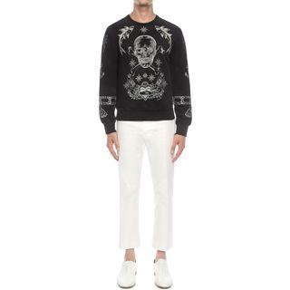 ALEXANDER MCQUEEN, Sweatshirt, Skull Embroidered Sweatshirt