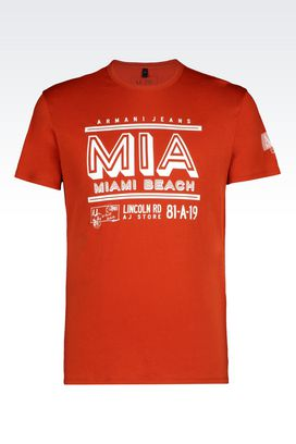 Armani Tshirt stampate Uomo t-shirt in jersey