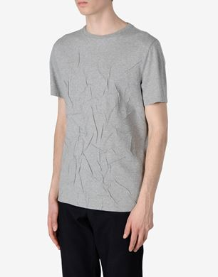 Wrinkled effect cotton T-shirt