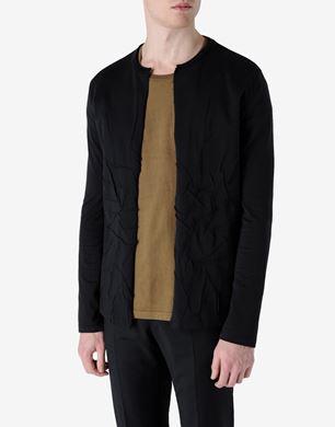 Open-front long sleeve T-shirt