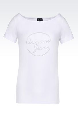 Armani Tshirt stampate Donna t-shirt in jersey