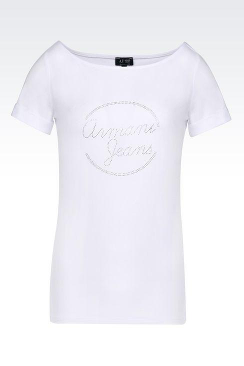 JERSEY T-SHIRT: Print t-shirts Women by Armani - 1