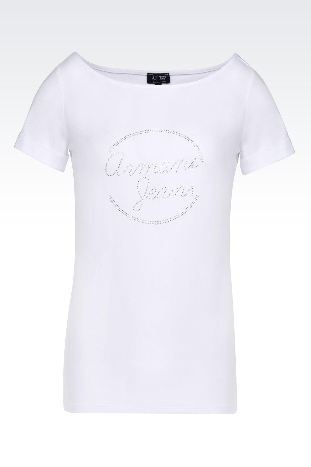 JERSEY T-SHIRT: Print t-shirts Women by Armani - 0