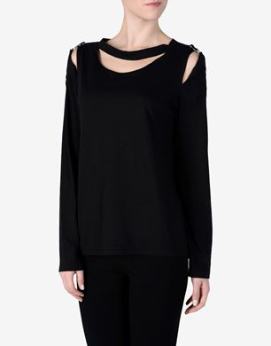 Maison Margiela Deconstructed cotton and cashmere top