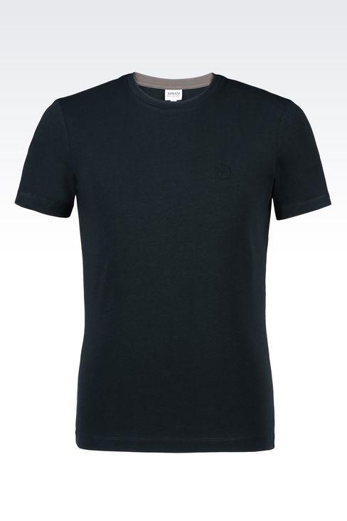 armani collezioni men jersey t shirt cotton. Black Bedroom Furniture Sets. Home Design Ideas